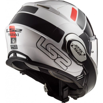 фото 5 Мотошлемы Мотошлем LS2 FF399 Valiant Prox White-Black-Red S