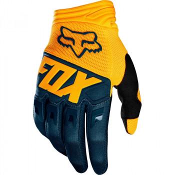 фото 1 Мотоперчатки Мотоперчатки Fox Dirtpaw Race Glove Navy-Yellow L (10)