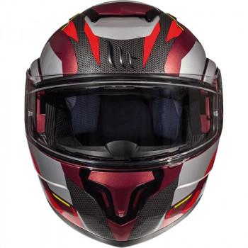 фото 2 Мотошлемы Мотошлем MT Atom SV Transcend Grey-Black-Red M (2019)