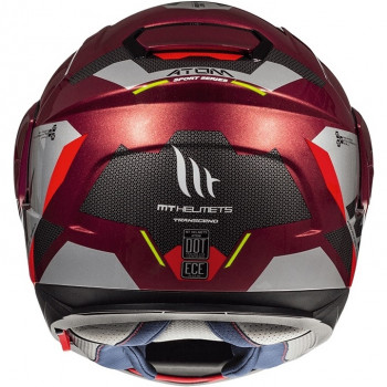 фото 3 Мотошлемы Мотошлем MT Atom SV Transcend Grey-Black-Red M (2019)
