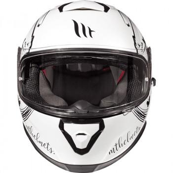 фото 2 Мотошлемы Мотошлем MT Thunder 3 SV Vlinder White-Black S (2019)