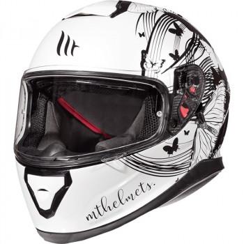 фото 1 Мотошлемы Мотошлем MT Thunder 3 SV Vlinder White-Black XS (2019)