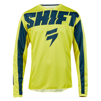 фото 1 Кроссовая одежда Мотоджерси Shift Whit3 York Jersey Yellow-Navy M