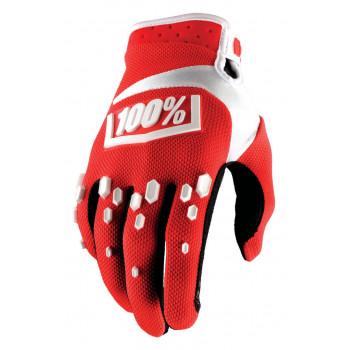 фото 1 Мотоперчатки Мотоперчатки Ride 100% Airmatic Glove Red-White S (8)