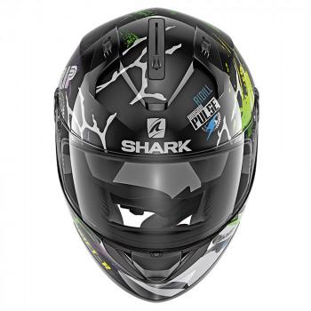 фото 3 Мотошлемы Мотошлем Shark Ridill 1.2 Drift-R Black-Green-Blue S