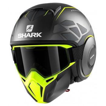 фото 1 Мотошлемы Мотошлем Shark Street Drak Hurok Matt Antracite-Black-Yellow L