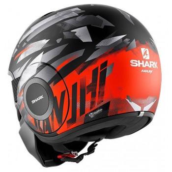 фото 2 Мотошлемы Мотошлем Shark Street Drak Kanhji Matt Black-Orange-Silver S