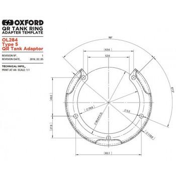 фото 2 Крепления для кофров Адаптер для крепления сумок на бак Oxford Type 5 QR Tank Adaptor