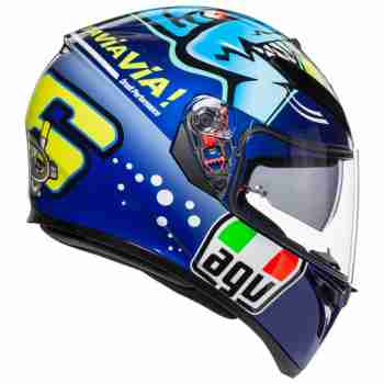 фото 4 Мотошлемы Мотошлем AGV K-3 SV Rossi Misano 2015 Blue MS