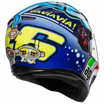 фото 6 Мотошлемы Мотошлем AGV K-3 SV Rossi Misano 2015 Blue MS