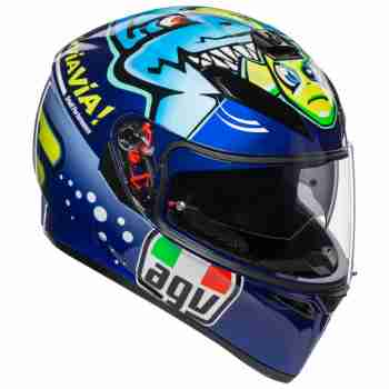 фото 1 Мотошлемы Мотошлем AGV K-3 SV Rossi Misano 2015 Blue MS