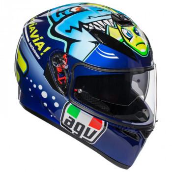 фото 1 Мотошлемы Мотошлем AGV K-3 SV Rossi Misano 2015 Blue MS