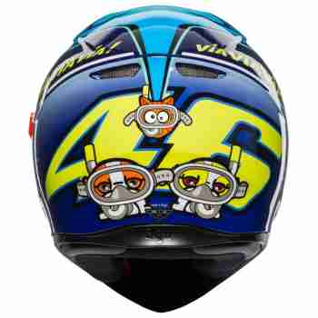 фото 5 Мотошлемы Мотошлем AGV K-3 SV Rossi Misano 2015 Blue MS