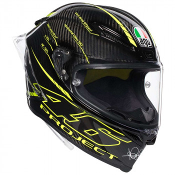 фото 1 Мотошлемы Мотошлем AGV Pista GP R Project 46 3.0 Carbon Black-Yellow L