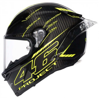 фото 3 Мотошлемы Мотошлем AGV Pista GP R Project 46 3.0 Carbon Black-Yellow L