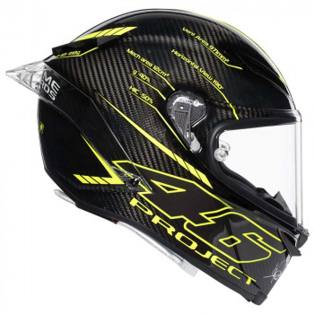фото 2 Мотошлемы Мотошлем AGV Pista GP R Project 46 3.0 Carbon Black-Yellow L