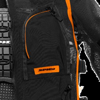 фото 3 Мотокуртки Мотокуртка Spidi Multitech Armor EVO Black-Orange 2XL