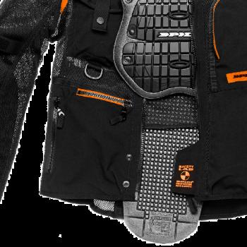 фото 2 Мотокуртки Мотокуртка Spidi Multitech Armor EVO Black-Orange 2XL