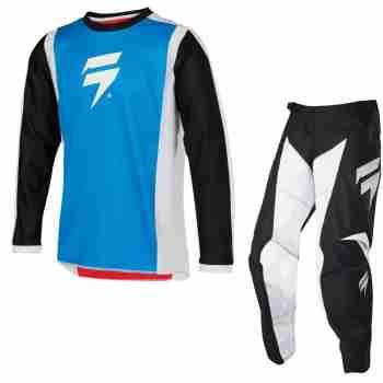 фото 2 Кроссовая одежда Мотоджерси детская SHIFT Whit3 Race Jersey 2 Red-Blue YM