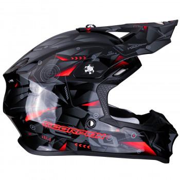 фото 4 Мотошлемы Мотошлем Scorpion VX-16 Air Punch Black-Silver-Red L