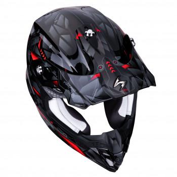 фото 3 Мотошлемы Мотошлем Scorpion VX-16 Air Punch Black-Silver-Red M