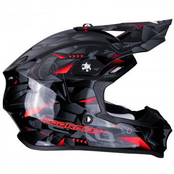 фото 4 Мотошлемы Мотошлем Scorpion VX-16 Air Punch Black-Silver-Red S