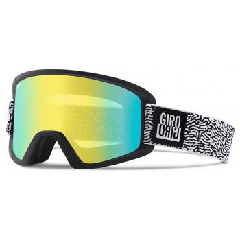 фото 1 Горнолыжные и сноубордические маски Сноубордическая маска Giro Semi Flash Black-White Squiggler  Loden Yellow 20  Yellow 84