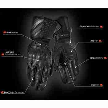 фото 6 Мотоперчатки Мотоперчатки Shima Monde Black M
