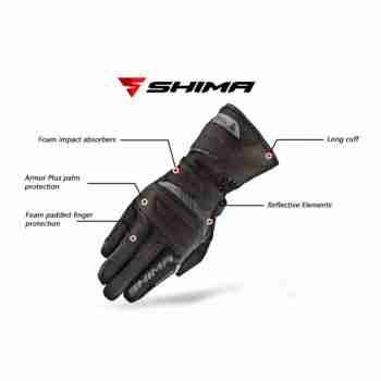 фото 5 Мотоперчатки Мотоперчатки Shima Touringdry Black XL