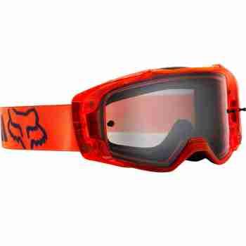 фото 2 Кроссовые маски и очки Мотоочки FOX Vue Mach One Goggle Orange, Clear Lens