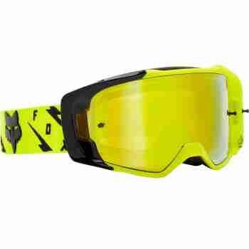 фото 2 Кроссовые маски и очки Мотоочки FOX Vue Rigz Spark Goggle Yellow, Mirror Lens