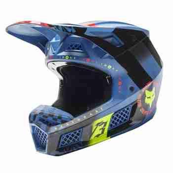 фото 1 Мотошлемы Мотошлем FOX V3 RS Mawlr Dusty Blue M