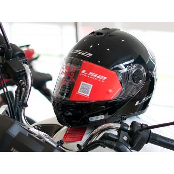 фото 8 Мотошлемы Мотошлем LS2 FF325 Strobe Black Gloss M