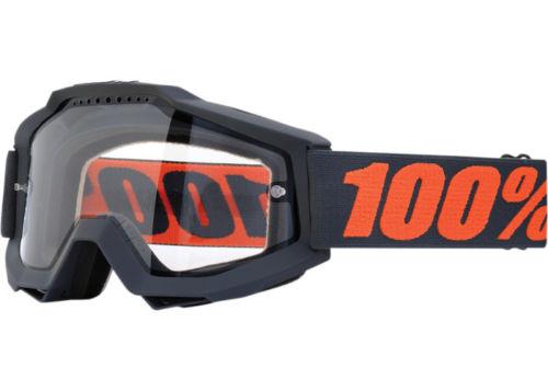 100% �������� 100% Accuri Enduro Gunmetal - Clear Dual Lens