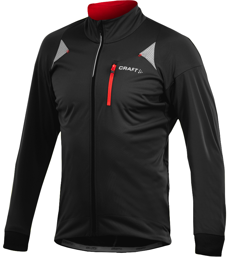 Велокуртка Craft PB Storm Jacket Black-Bright Red S 1902320